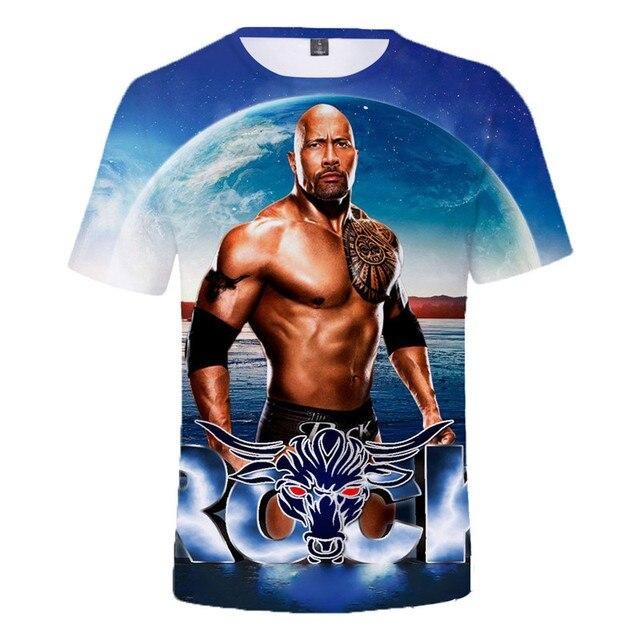 2021 Summer New WWE John Cena Summer T-shirt Kids Women 3D Effect Men T-shirt Street Clothing Dray Anderson Johnson Anime 2