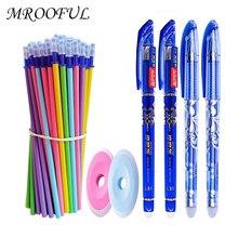 35pcs/set Macaron Erasable Gel Pen Refills Rod 0.5mm Washable Handle Magic Erasable Pen Office School Writing Tools Stationery