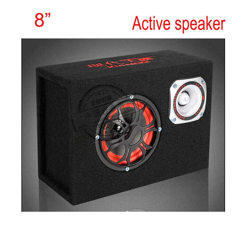 8 inch 12v  220v Car Audio Hifi Portable Active speakers, KTV MDF Boom Box  Stage Amplifier Speaker  Subwoofer