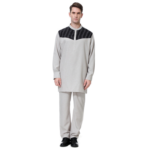 Men/'s Saudi Arab Suit Shirts Pants Set Islamic Abaya Thobe Kaftan Muslim Clothes