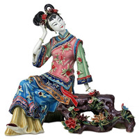 WU CHEN LONG Chinese Antique Beautiful Women Figurines Vintage Jinling Twelve Porcelain Female Dolls Sculptures Home Decor R2395