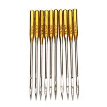 50Pcsเข็มจักรเย็บผ้า 90/14 No.14 Goldenเข็มเหล็กสำหรับนักร้องทนทานครัวเรือนเย็บอุปกรณ์เสริม
