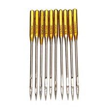 50Pcs Naaimachine Naalden 90/14 No.14 Golden Stalen Naald Voor Singer Duurzaam Huishoudelijke Stiksels Accessoires