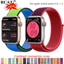 Nylon Strap for apple watch band 4/5 44mm/40mm correa apple watch 3 42