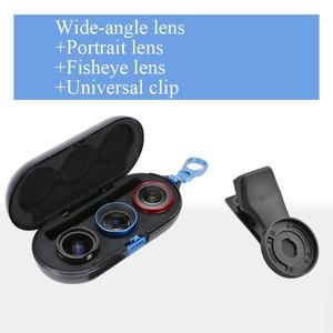 Image 2 - ユニバーサル電話レンズ高精細思鋭外部携帯レンズマクロ肖像ミラーセットのための広角魚眼レンズiphone