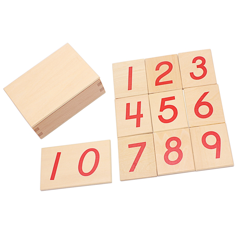 Baby Montessori Digital Cards 1-10 Of Numerical Rods With Wooden Box Toy Montessori Materials Educational 5 Years Learning Math