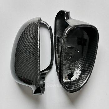 Lusterko boczne pokrywy czapki dla VW Golf MK5 GTI plus Passat B6 B5 5 dla Jetta 5 (wygląd węgla) Sharan wariant EOS dla volkswagena tanie i dobre opinie kibowear CN (pochodzenie) 2003 2004 2005 2006 2007 2008 2009 MK5CASE ABS with hydro-dipped finish Lustro i pokrowce 1 1 replacement