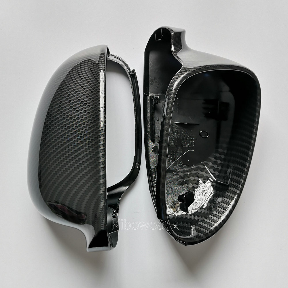 Side Wing Mirror Covers Caps For VW Golf MK5 GTI plus Passat B6 B5.5 for Jetta 5 (Carbon Look) Sharan Variant EOS for Volkswagen(China)