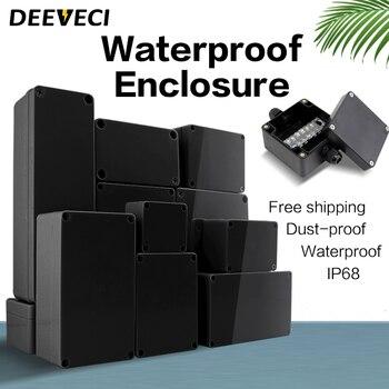 Black Outdoor Waterproof Enclosure Plastic Box Electronic Project Instrument Case Electrical Project Box Junction Box Housing aluminum housing project box case heat dissipation shell housing 32x82x110mm enclosure box