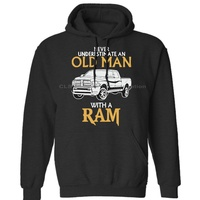 RAM Pickup Cartoon Unisex Mens Womens Winter Hoodies Sweatshirts Free Shipping
