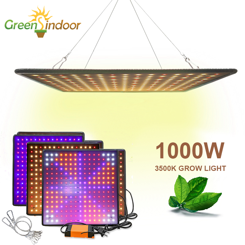 1500W Full Spectrum LED Plant Grow Light Lamp For Plants Indoor Nursery Flower Fruit Veg Hydroponics System Grow Tent Fitolampy