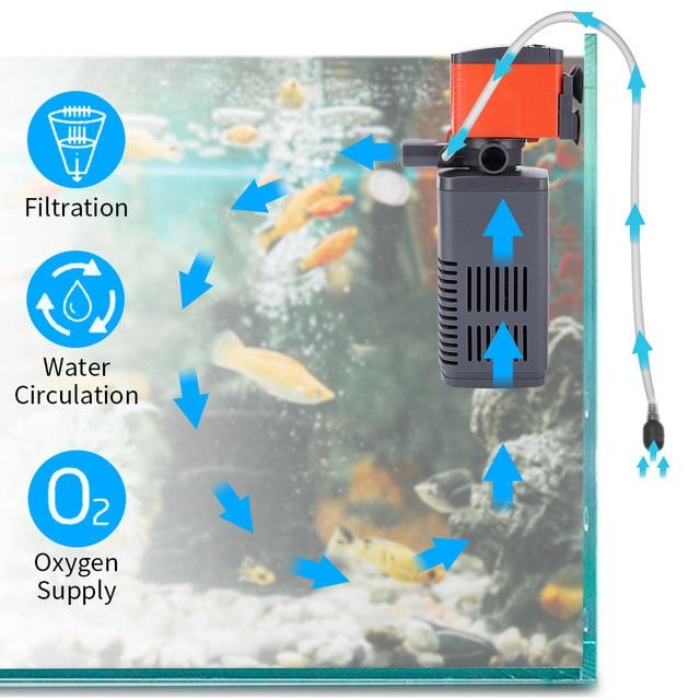 Multifunction Aquarium Oxygen Water Pump And Filter 3