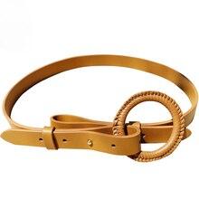 Women's Belt Simple High-End Versatile Korean Style Leather Decorative Dress Belt