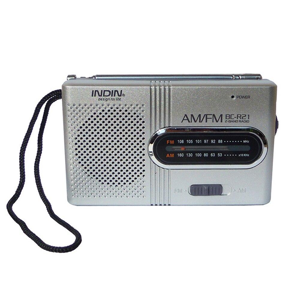 Портативный AM FM радио BC-R21 2AA Батарея мини радио большое Приём