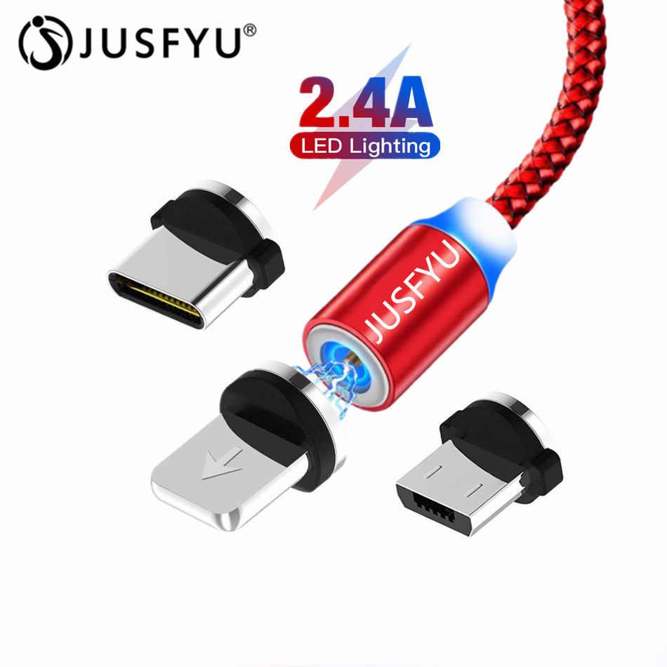 2.4A kabel magnetyczny Micro Usb typu C szybkie ładowanie