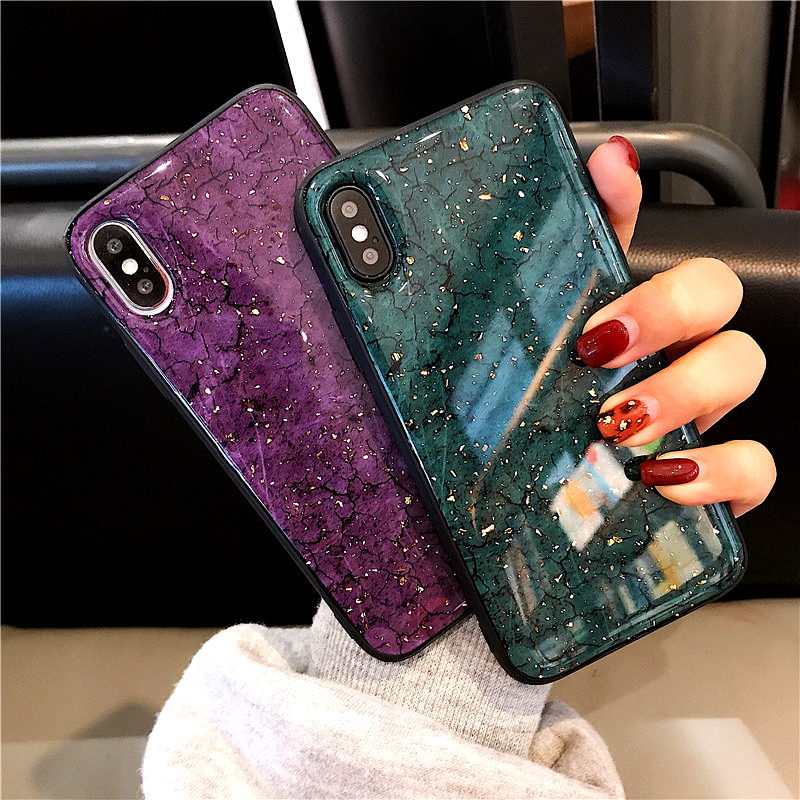 Gold Sequin Marble Case For Huawei Honor 8A 8S Y9 Prime 2019 p smart z Mate 30 Pro p20 lite Nova 5i Glitter Cover phone bags