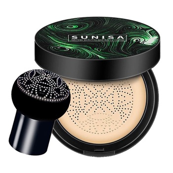 SUNISA-cojín de aire para maquillaje, base de maquillaje hidratante, permeable al aire,...