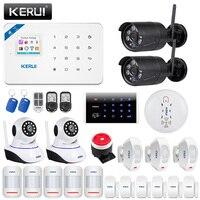 KERUI W18 WiFi GSM Alarm System Smart Android IOS App Remote Control Wireless Two way Audio Home Security Burglar Alarm Kit