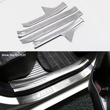 Stainless steel Car Door Sill Scuff Plate Threshold Article Welcome Pedal For Toyota Corolla 2015 2016 2017 2018 Car Accessories цена в Москве и Питере