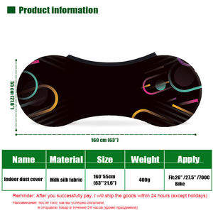 """Image 5 - HSSEE 2020 MTB road bike cover high quality elastic fabric 26 """" 28"""" bicycle indoor dust cover genuine tire protection cover"""