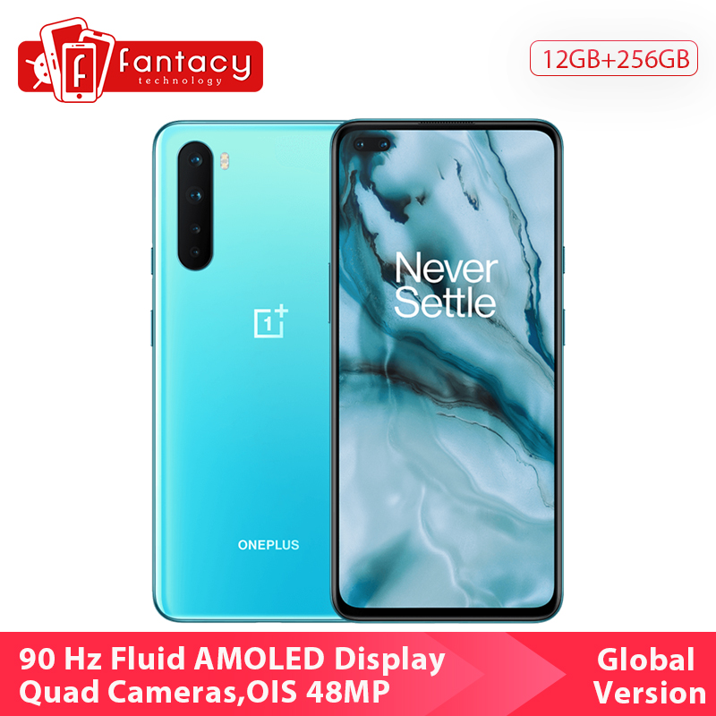 Global Version Oneplus Nord 5G Mobile Phone Snapdragon 765G 128GB / 256GB 48MP Quad Camera 90Hz AMOLED Display Fast Charge