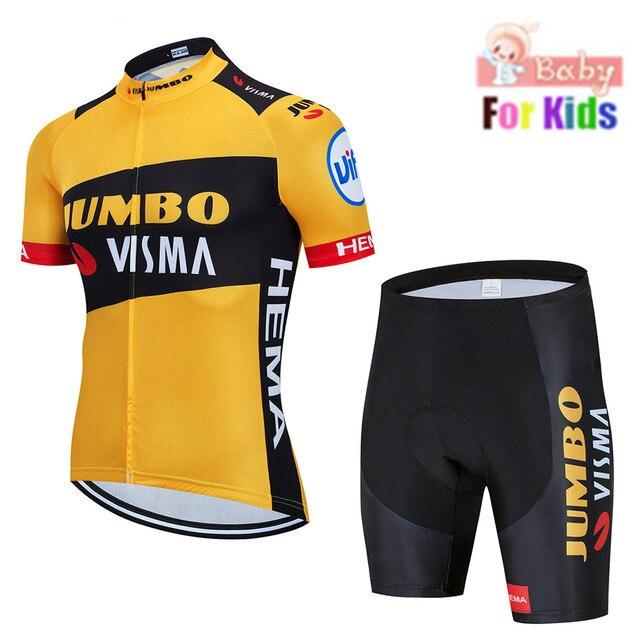 2020 strava equipe respirável secagem rápida crianças conjunto de camisa ciclismo da bicicleta das crianças meninos meninas roupas verão bicicleta wear 1