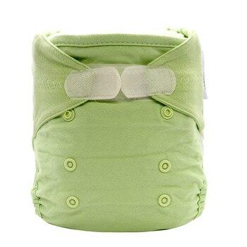 green reusable cotton bamboo diapers