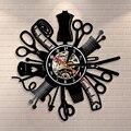 Старинная швейная машина  настенные часы  виниловая запись  настенные декоративные часы  Модный магазин  Декор  настенный знак  ретро идея д...