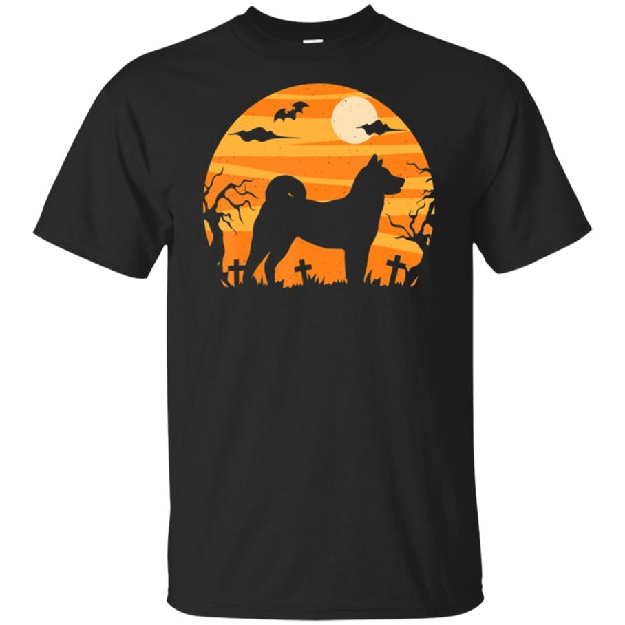 Сиба ину Хэллоуин черная темно-синяя футболка костюм забавная футболка для женщин и мужчин S 3Xl хлопок короткий рукав Футболка
