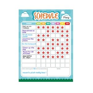 Image 3 - Pizarra blanca extraíble para nevera planificador semanal, pizarra magnética para limpiar en seco, calendario, tabla de recompensas para niños, papelería escolar para el hogar