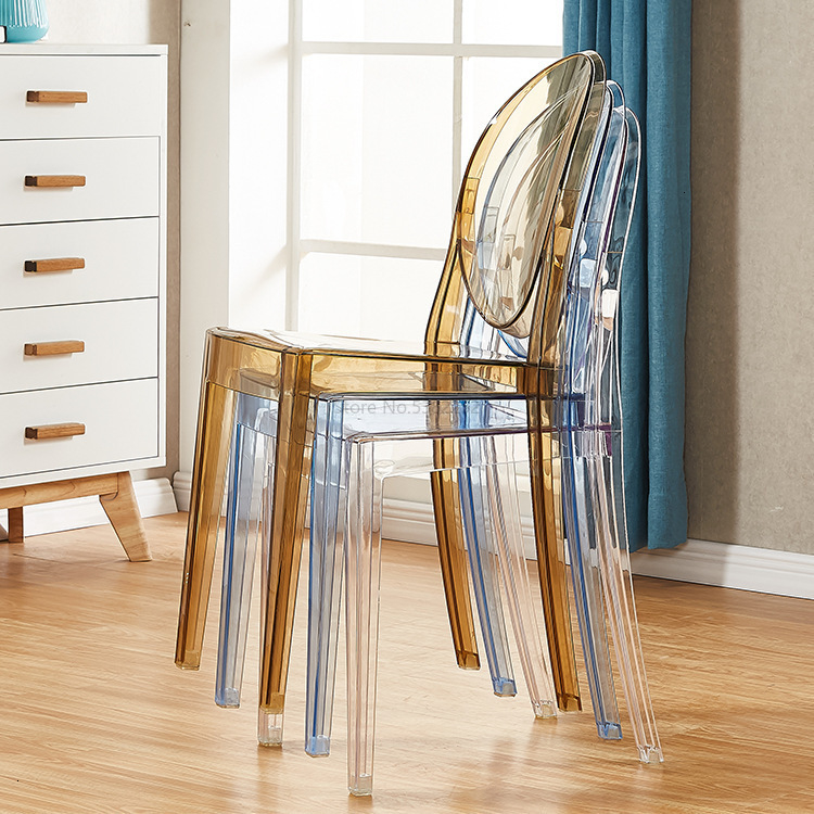 Force Transparent Ghost Devil Chair Ins Northern Europe Plastic Crystal Makeup Chair Modern Concise Originality Dining Chair