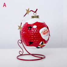 Boże narodzenie Luminous kule dekoracyjne innowacyjna malowana święty mikołaj Snowman światło ozdoba FAS6 tanie tanio Bez pudełka 212661