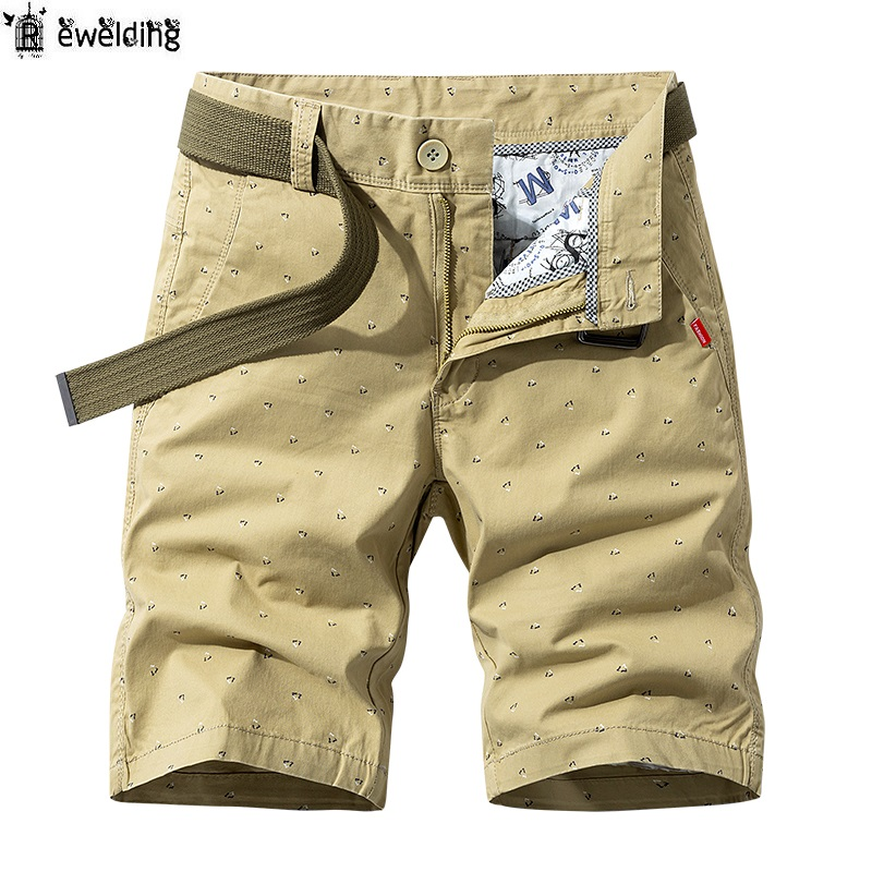 Mens Summer Short Cargo Pants Cotton Loose Camouflage Casual Shorts Overalls