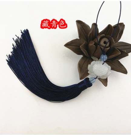 A24 artisanat chinois bricolage Style ancien classique Jade perle Lotus fleur goutte Suite Hanshu accessoire ventilateur chute