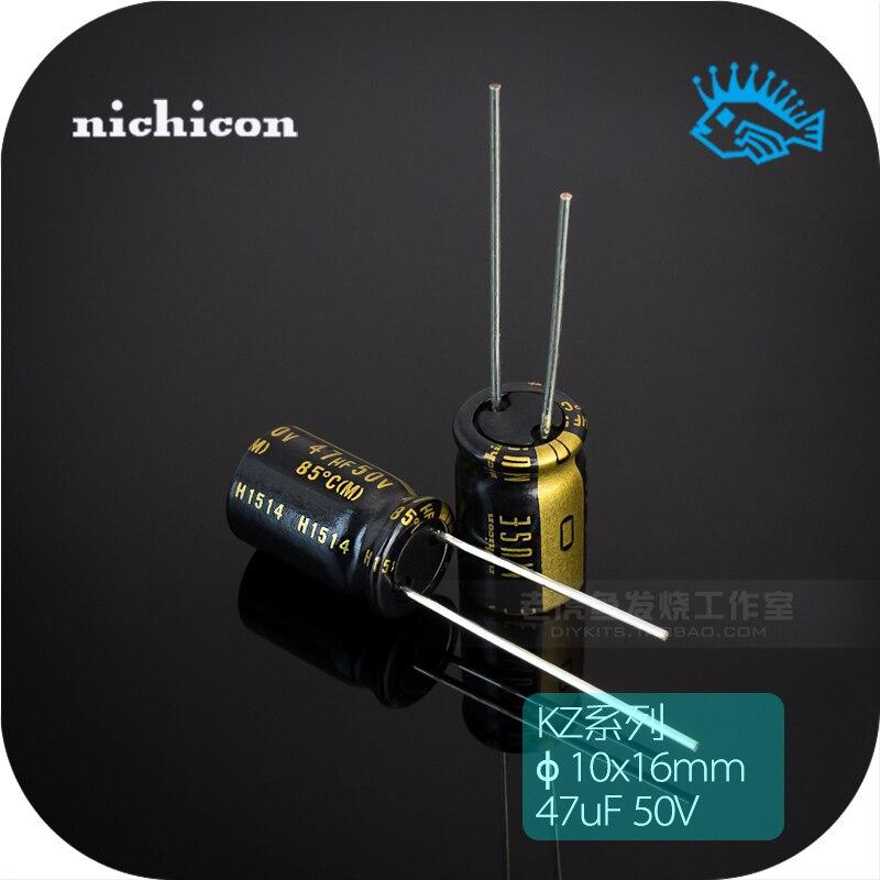 5//50pcs 47uF 25V KZ MUSE Nichicon Audio Electrolytic Capacitor