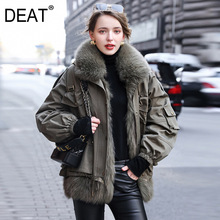 Parkas Knitted Real-Fox-Fur Winter Women New Warm Thick Fashion DEAT And Autumn Military