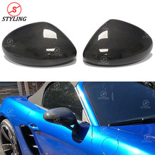 718 Carbon Mirror Cover For Porsche RearView Side Mirror Cover Caps LHD Only add on style 2016 2017 2018 2019 carbon fiber side wing mirror covers for porsche panamera 970 2010 2014 2015 2016 add on style rear view mirror cover only lhd
