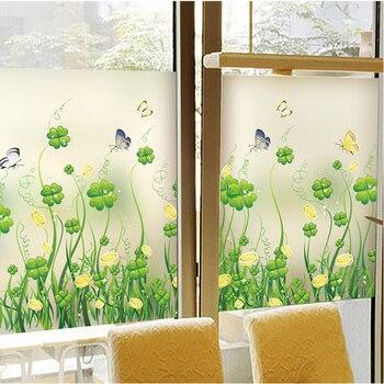 Su misura elettrostatico velo di vetro smerigliato wc balcone finestra di carta finestra opaco blackout autoadesivo di vetro