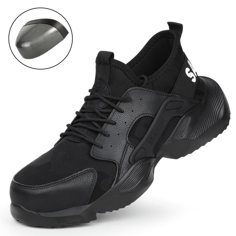 36~48 Fashion Men Safety Shoes Steel toe Wilderness Survival Anti-smashing Men work safety Boots #ACC9185