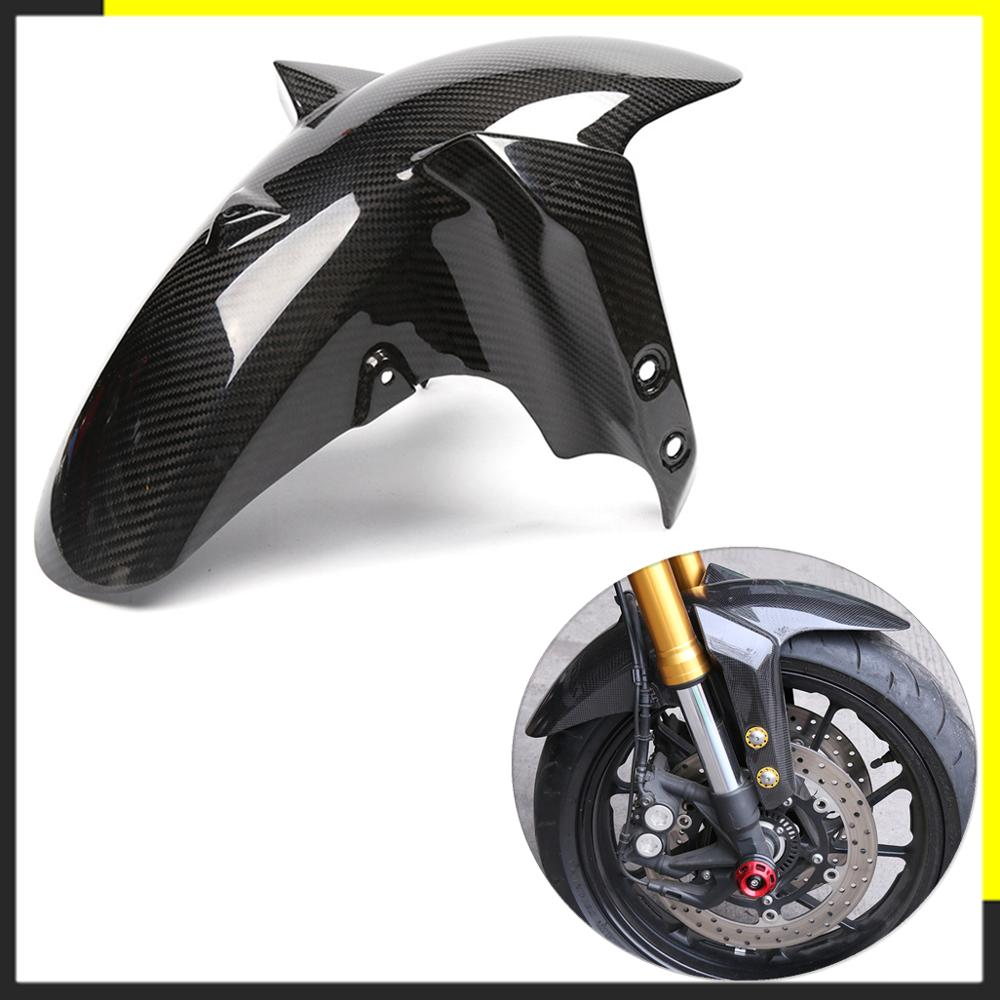 Motorcycle Carbon Fiber Front Fender For Yamaha MT09 FZ09 MT 09 FZ 09 2014 2015 2016 2017 Splash Mud Guard Mudguard Guard Cover