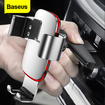 Baseus Gravity Car Phone Holder for Car CD Slot Mount Phone Holder Stand for iPhone X Samsung S10 Metal Cell Mobile Phone Holder car cute cartoon mobile phone flexible gravity holder