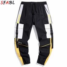 Trousers Joggers-Pants Streetwear Hip-Hop Men Harem Harajuku Men Male Fashion Patchwork