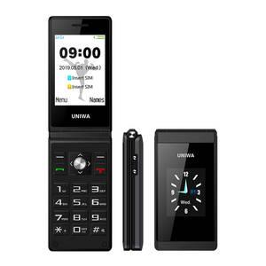 Uniwa Land-Rover X28x9 Dual-Screen GSM New Mobile-Phone Keyboard Clamshell Flip Push-Button