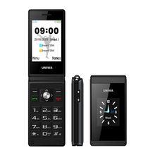 Uniwa x28 двойной экран флип старшая Кнопка мобильный телефон