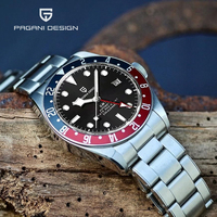 PAGANI DESIGN-reloj mecánico automático GMT Sapphire para hombre, pulsera de buceo de acero inoxidable de 200M, Masculino, 2021