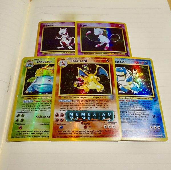 Dragon Ball золотая металлическая карточка супер игра Коллекция аниме-открытки игра детская игрушка - Цвет: 1 set