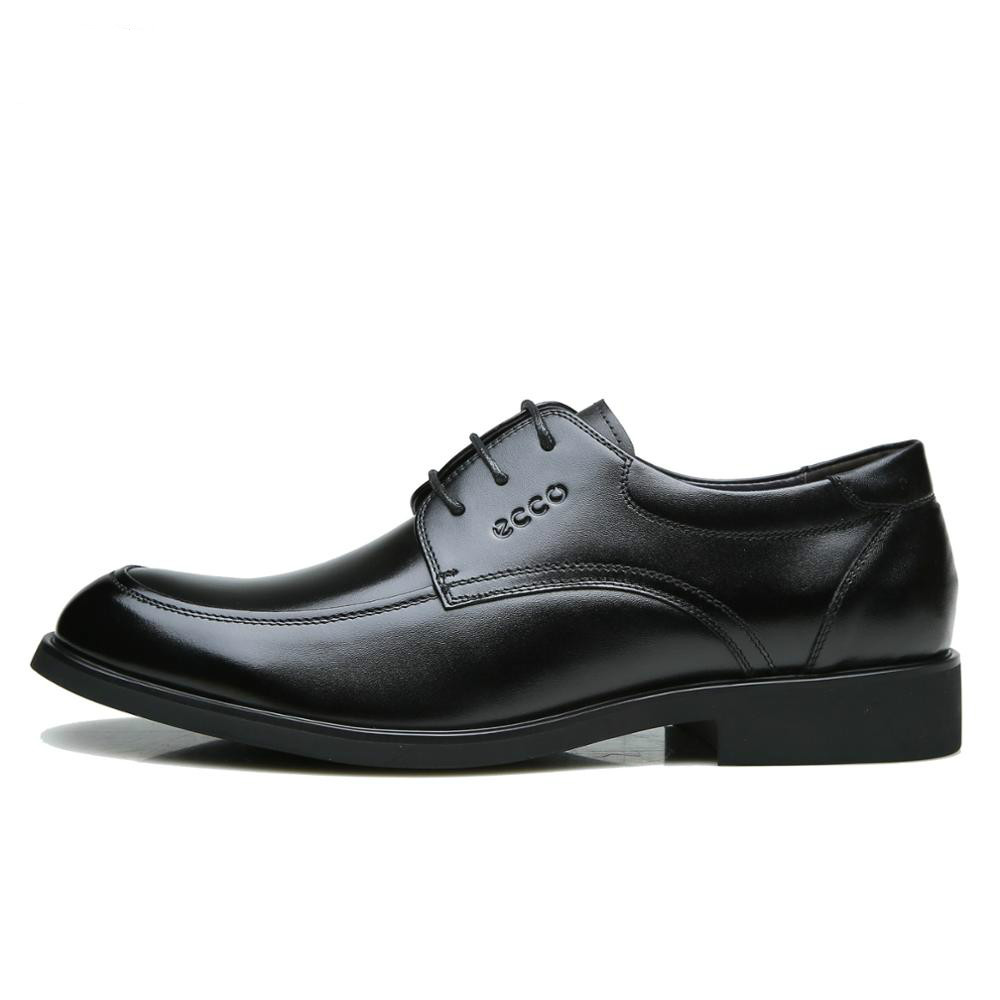 Ecco Men Leather Shoes 630168 High-end Business Dress Series Simple Version Work Shoes Men's Casual Shoes 38-44