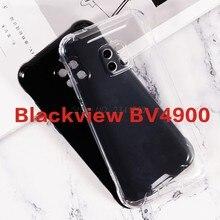 Caso de telefone transparente para blackview bv4900 silicona caso anti-knock tpu preto macio caso para blackview bv4900 pro capa traseira