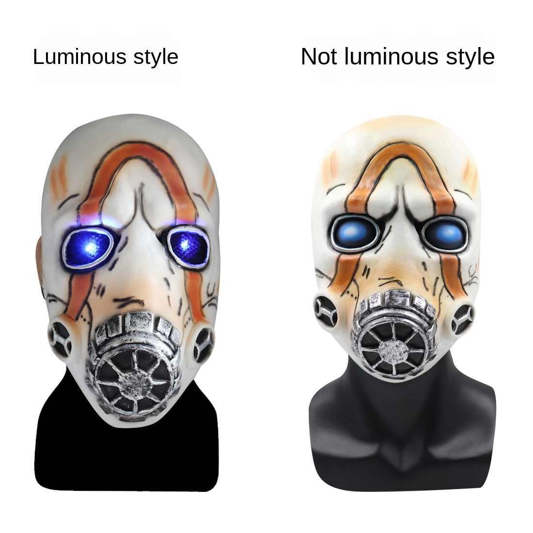 Glowing mask Borderlands 3 Psycho Mask Borderlands Cosplay Psycho Latex Mask Scary Halloween custome Props.