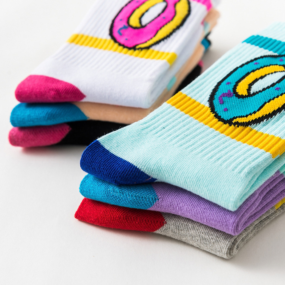 2019 Unisex Odd Future Donuts Wool Cotton Long Socks Fashion Hiphop Cotton Skateboard Fixed Gear Casual Men Women Meias Socks
